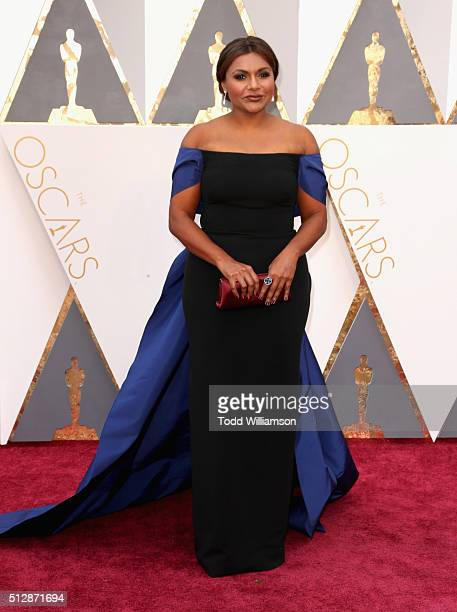Actress Mindy Kaling attends the 88th Annual Academy Awards at Hollywood Highland Center on February 28 2016 in Hollywood California