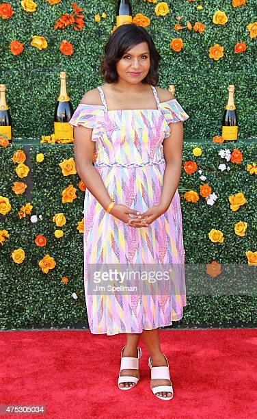 Actress Mindy Kaling attends the 8th Annual Veuve Clicquot Polo Classic at Liberty State Park on May 30 2015 in Jersey City New Jersey