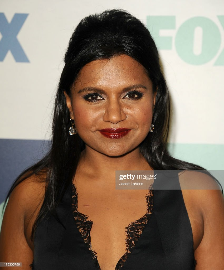 Actress <a gi-track='captionPersonalityLinkClicked' href=/galleries/search?phrase=Mindy+Kaling&family=editorial&specificpeople=743884 ng-click='$event.stopPropagation()'>Mindy Kaling</a> attends the FOX All-Star Party on August 1, 2013 in West Hollywood, California.