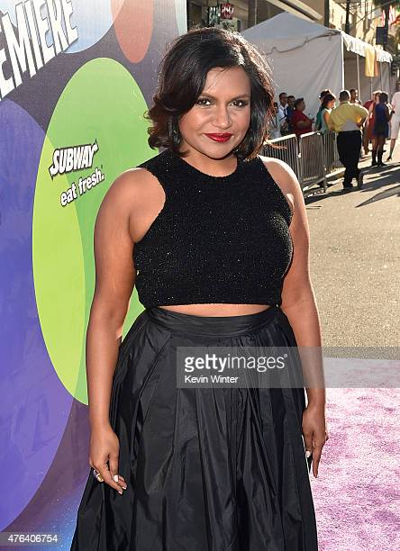 Actress Mindy Kaling attends the Los Angeles premiere of DisneyPixar's 'Inside Out' at the El Capitan Theatre on June 8 2015 in Hollywood California