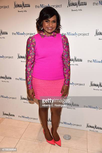 Actress Mindy Kaling attends 'The Mindy Project' Costume Design Event for members of The Academy of Television Arts Sciences at Neiman Marcus on June...