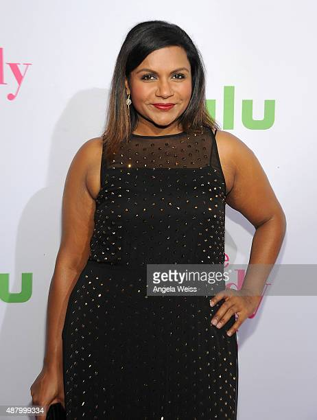 Actress Mindy Kaling attends the premiere of Hulu's 'The Mindy Project' Season Four at Ysabel on September 12 2015 in West Hollywood California