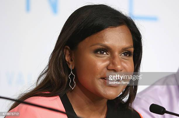 Actress Mindy Kaling attends the press conference for 'Inside Out' during the 68th annual Cannes Film Festival on May 18 2015 in Cannes France
