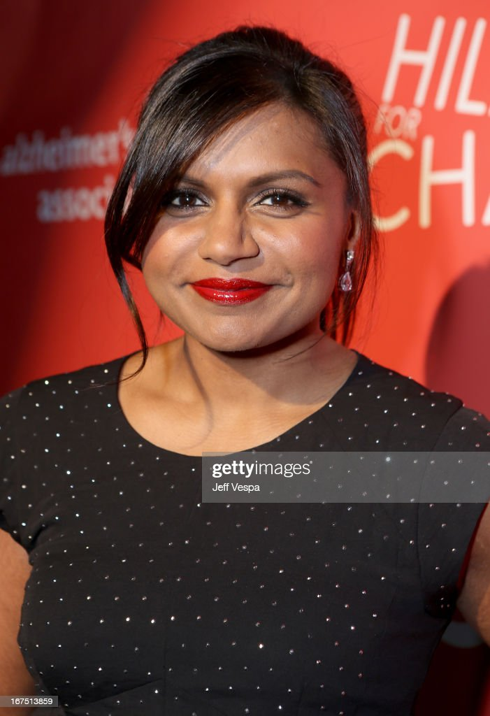 Actress <a gi-track='captionPersonalityLinkClicked' href=/galleries/search?phrase=Mindy+Kaling&family=editorial&specificpeople=743884 ng-click='$event.stopPropagation()'>Mindy Kaling</a> attends the Second Annual Hilarity For Charity benefiting The Alzheimer's Association at the Avalon on April 25, 2013 in Hollywood, California.