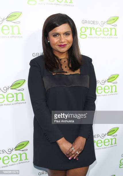 Actress Mindy Kaling attends the Verte 2013 Grades of Green's 3rd annual fundraising event at the BelAir Bay Club on April 11 2013 in Beverly Hills...