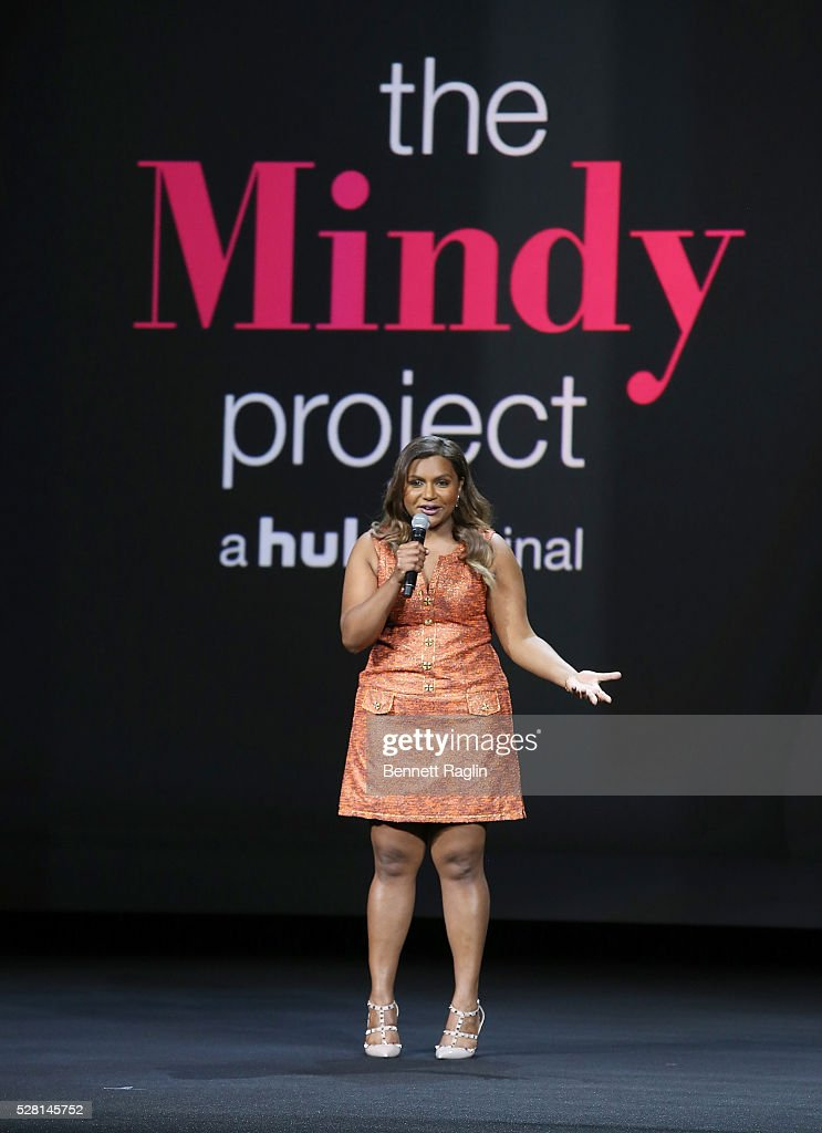 Actress <a gi-track='captionPersonalityLinkClicked' href=/galleries/search?phrase=Mindy+Kaling&family=editorial&specificpeople=743884 ng-click='$event.stopPropagation()'>Mindy Kaling</a> of The Mindy Project speaks onstage at the 2016 Hulu Upftont on May 04, 2016 in New York, New York.