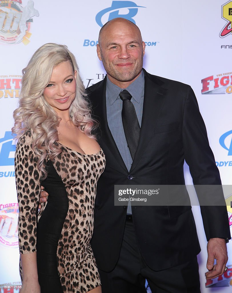 Actress Mindy Robinson (L) and actor and former mixed martial artist Randy Couture attend the eighth annual Fighters Only World Mixed Martial Arts Awards at The Palazzo Las Vegas on February 5, 2016 in Las Vegas, Nevada.