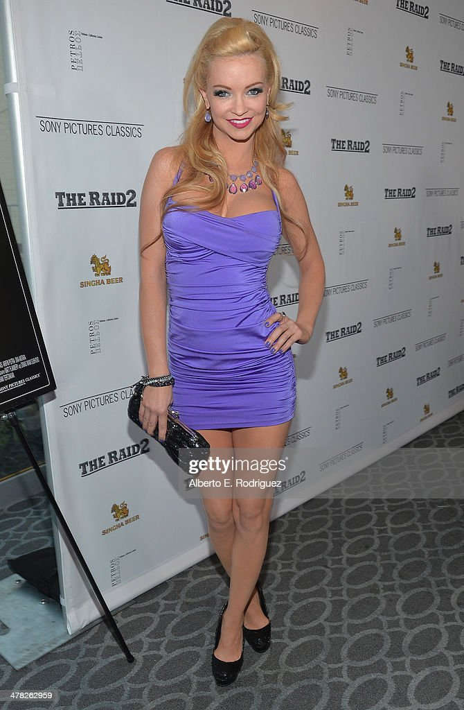 Actress Mindy Robinson arrives to the premiere of Sony Pictures Classics' 'The Raid 2' at Harmony Gold Theatre on March 12, 2014 in Los Angeles, California.