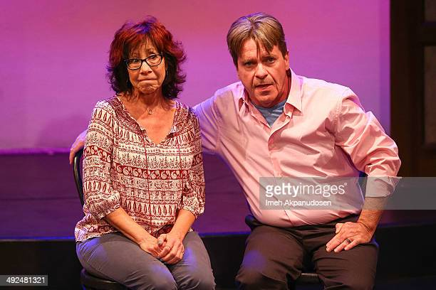 Actress Mindy Sterling and actor George McGrath perform onstage at the The Groundlings Theatre's celebration of their 40th Anniversary with '80's...
