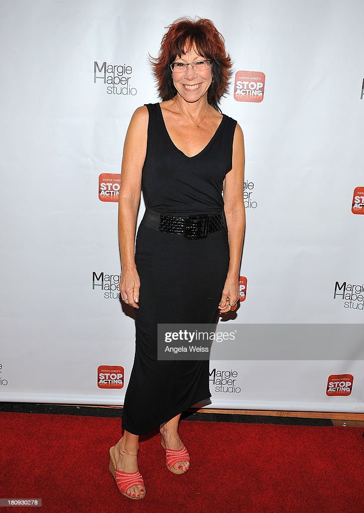 Actress Mindy Sterling arrives at Margie Haber Studio's 'Stop Acting App: The Audition Class with Margie Haber' release launch party at Aventine Hollywood on September 17, 2013 in Hollywood, California.