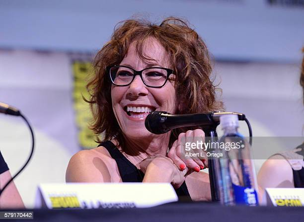 Actress Mindy Sterling attends the 'Con Man' panel during ComicCon International 2016 at San Diego Convention Center on July 22 2016 in San Diego...