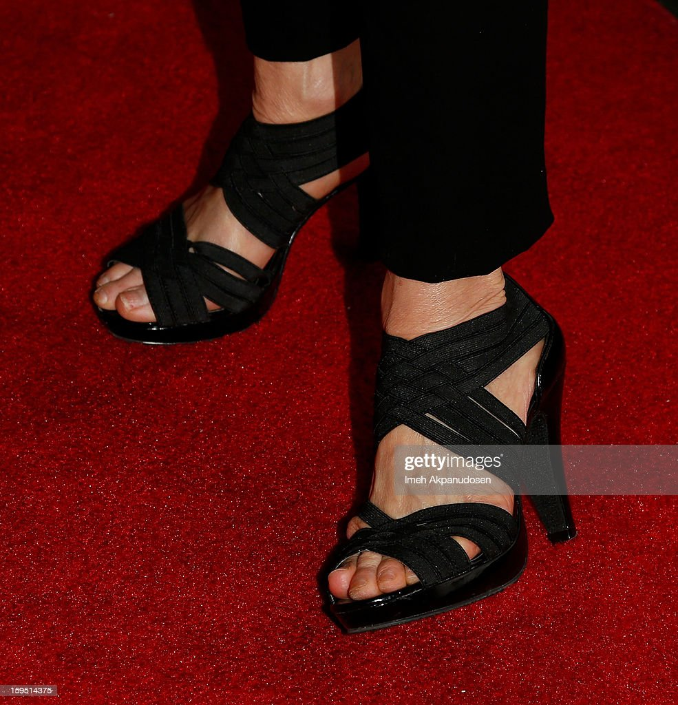 Actress Mindy Sterling (shoe detail) attends the screening of FX's new comedy series 'Legit' on January 14, 2013 in Los Angeles, California.