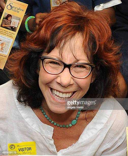 Actress Mindy Sterling reads to LA Elementary students to launch SAG Foundation's newest Storyline Online video at Crescent Heights Boulevard...