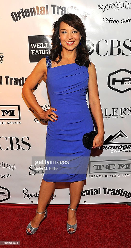 Actress Ming Na attends the 2nd annual Borgnine Movie Star Gala honoring actor Joe Mantegna at the Sportman's Lodge on February 1, 2014 in Studio City, California.