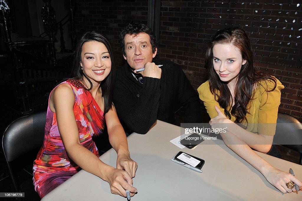 Actress Ming-Na, actor Louis Ferreira and actress Elyse Levesque attend the Innerspace Stargate Universe Special at the Masonic Temple on November 12, 2010 in Toronto, Canada.