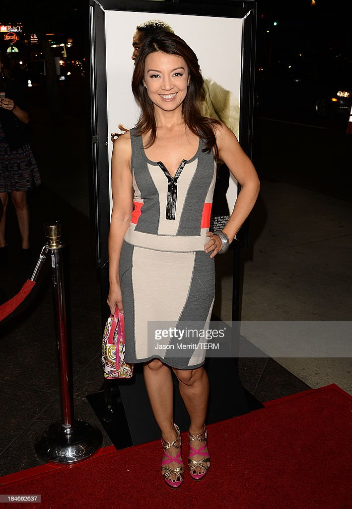 Actress Ming-Na We arrives at the Los Angeles premiere of '12 Years A Slave' at Directors Guild Of America on October 14, 2013 in Los Angeles, California.