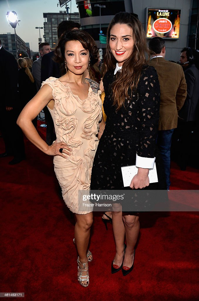 Actress Ming-Na Wen (L) and musician Sara Bareilles attend The 40th Annual People's Choice Awards at Nokia Theatre L.A. Live on January 8, 2014 in Los Angeles, California.