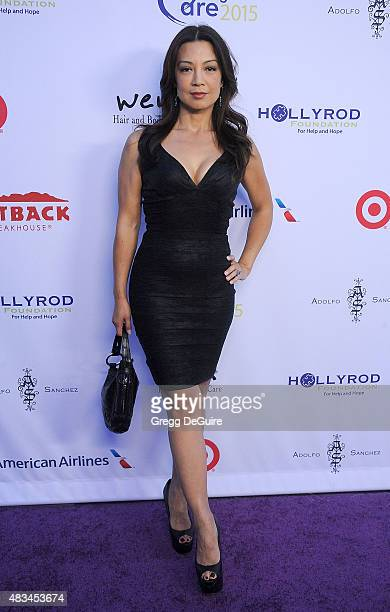 Actress MingNa Wen arrives at HollyRod Foundation's 17th Annual DesignCare Gala at The Lot Studios on August 8 2015 in Los Angeles California
