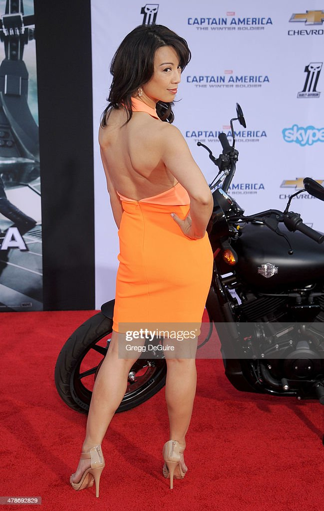 Actress <a gi-track='captionPersonalityLinkClicked' href=/galleries/search?phrase=Ming-Na&family=editorial&specificpeople=630343 ng-click='$event.stopPropagation()'>Ming-Na</a> Wen arrives at the Los Angeles premiere of 'Captain America: The Winter Soldier' at the El Capitan Theatre on March 13, 2014 in Hollywood, California.
