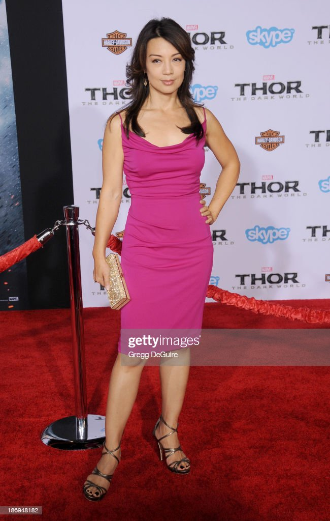 Actress <a gi-track='captionPersonalityLinkClicked' href=/galleries/search?phrase=Ming-Na&family=editorial&specificpeople=630343 ng-click='$event.stopPropagation()'>Ming-Na</a> Wen arrives at the Los Angeles premiere of 'Thor: The Dark World' at the El Capitan Theatre on November 4, 2013 in Hollywood, California.