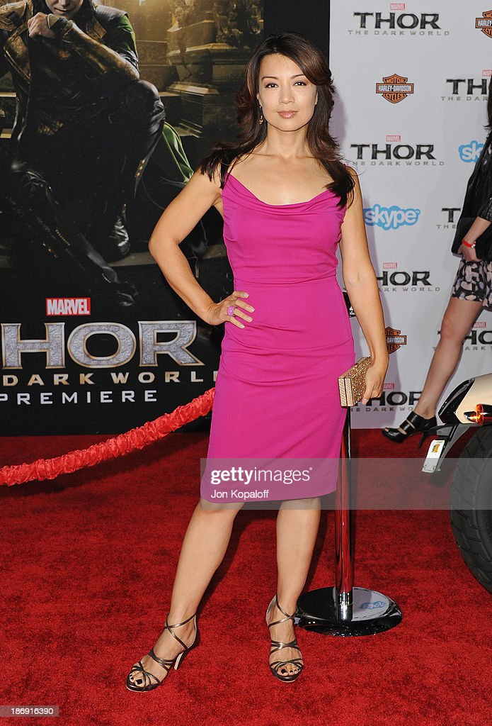 Actress Ming-Na Wen arrives at the Los Angeles Premiere 'Thor: The Dark World' at the El Capitan Theatre on November 4, 2013 in Hollywood, California.
