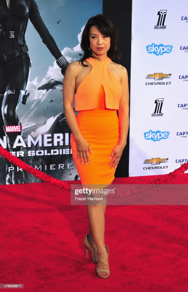 Actress <a gi-track='captionPersonalityLinkClicked' href=/galleries/search?phrase=Ming-Na&family=editorial&specificpeople=630343 ng-click='$event.stopPropagation()'>Ming-Na</a> Wen arrives at the premiere Of Marvel's 'Captain America:The Winter Soldier at the El Capitan Theatre on March 13, 2014 in Hollywood, California.