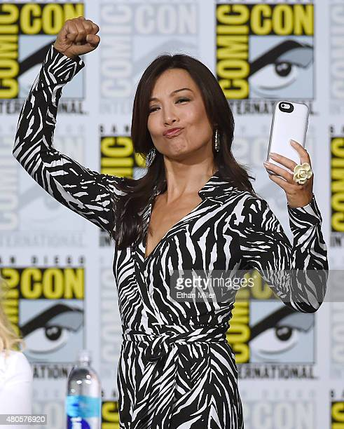 Actress MingNa Wen arrives at the TV Guide Magazine Fan Favorites panel during ComicCon International 2015 at the San Diego Convention Center on July...