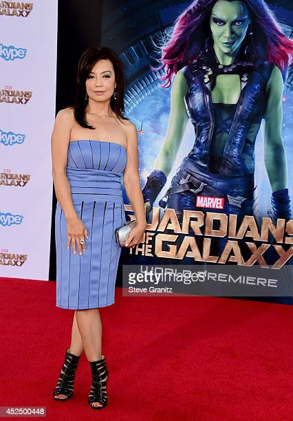 Actress MingNa Wen attends Marvel's 'Guardians Of The Galaxy' Los Angeles Premiere at the Dolby Theatre on July 21 2014 in Hollywood California