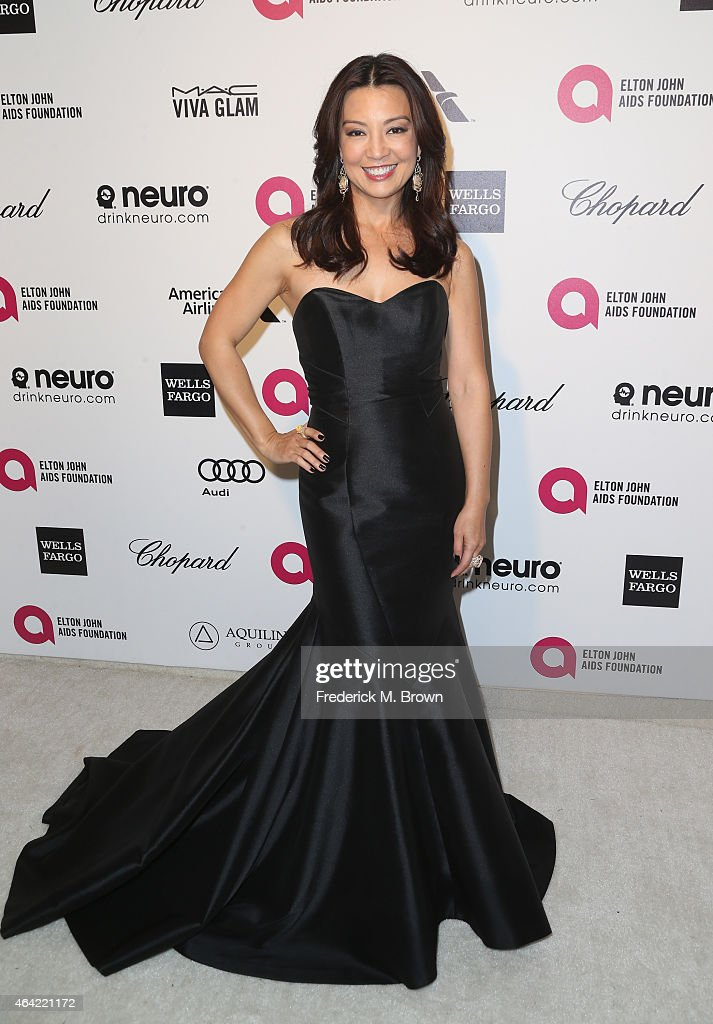 Actress Ming-Na Wen attends the 23rd Annual Elton John AIDS Foundation's Oscar Viewing Party on February 22, 2015 in West Hollywood, California.