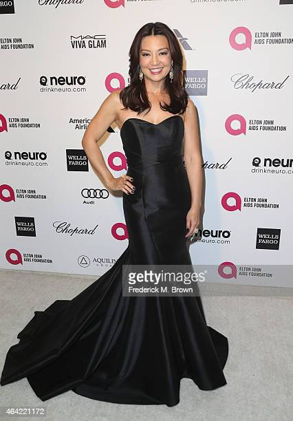 Actress MingNa Wen attends the 23rd Annual Elton John AIDS Foundation's Oscar Viewing Party on February 22 2015 in West Hollywood California