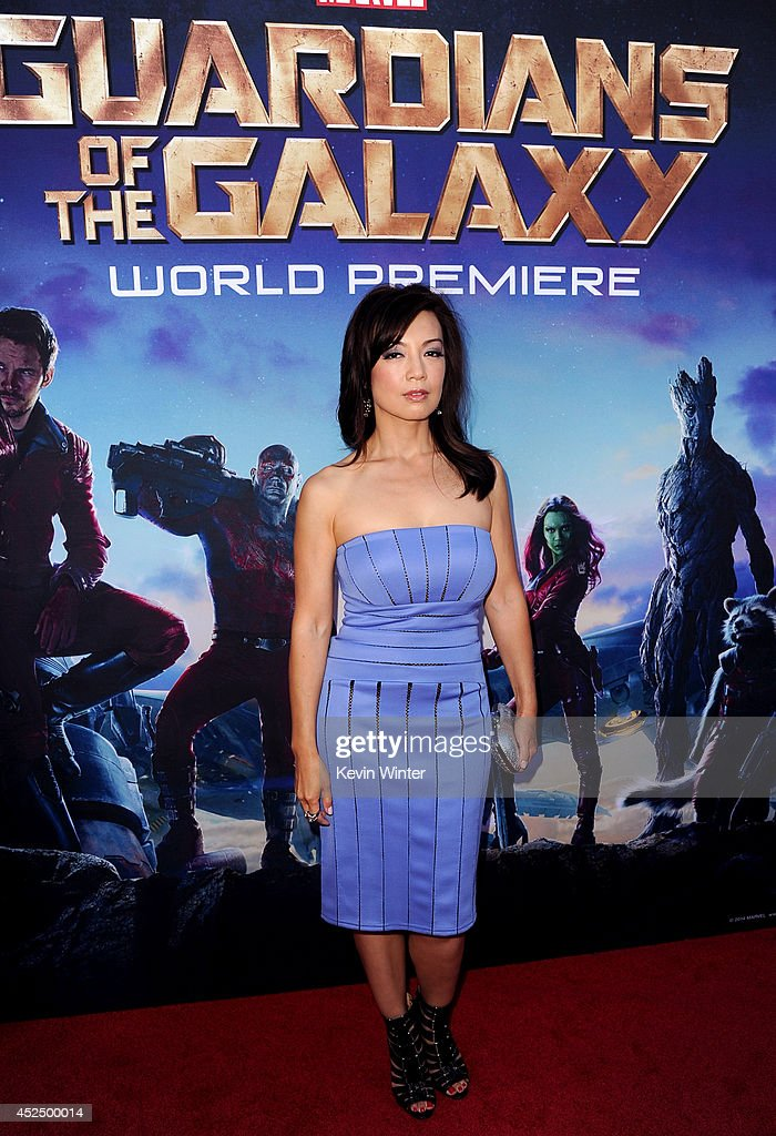 Actress MingNa Wen attends the premiere of Marvel's 'Guardians Of The Galaxy' at the Dolby Theatre on July 21 2014 in Hollywood California