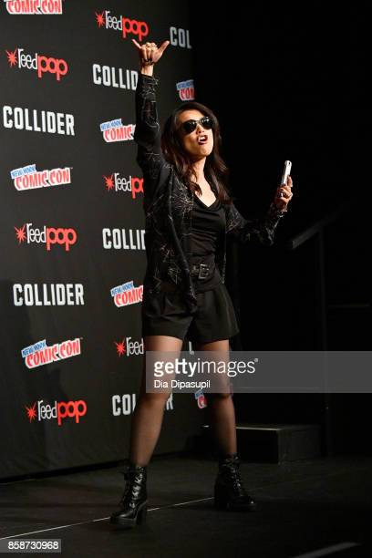 Actress MingNa Wen speaks at the _Marvel's Agents of SHIELD__ panel during 2017 New York Comic Con Day 3 on October 7 2017 in New York City