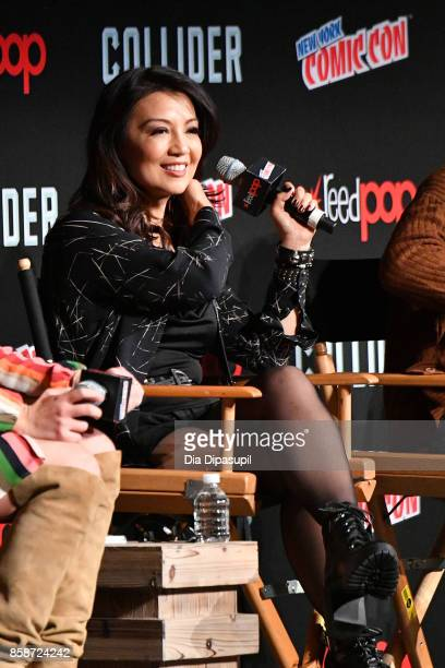 Actress MingNa Wen speaks at the Marvel's Agents of SHIELD panel during 2017 New York Comic Con Day 3 on October 7 2017 in New York City