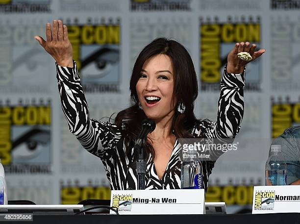 Actress MingNa Wen speaks onstage at the TV Guide Magazine Fan Favorites panel during ComicCon International 2015 at the San Diego Convention Center...