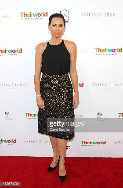 Actress Mini Driver attend the Theirworld Astley Clarke summer reception in celebration of charitable partnership at the private residence of the...