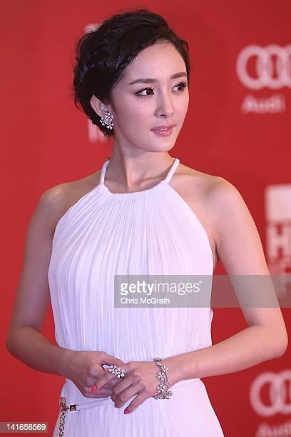 Actress Mini Yang attends the Opening Night for the Hong Kong International Film Festival at the Hong Kong Convention and Exhibition Centre on March...