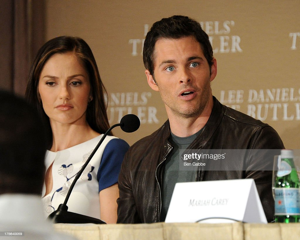 Actress Minka Kelly (L) and actor James Marsden attend the press conference for The Weinstein Company's LEE DANIELS' THE BUTLER at Waldorf Astoria Hotel on August 5, 2013 in New York City.