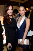 """Actress Minka Kelly and Olivia Munn wearing Juicy Couture attend Vanity Fair and Juicy Couture's Celebration of the 2013 """"Vanities"""" Calendar hosted..."""