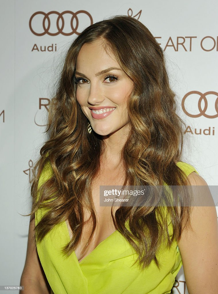 Actress Minka Kelly arrives at Audi presents The Art of Elysium's 5th annual HEAVEN at Union Station on January 14 2012 in Los Angeles California