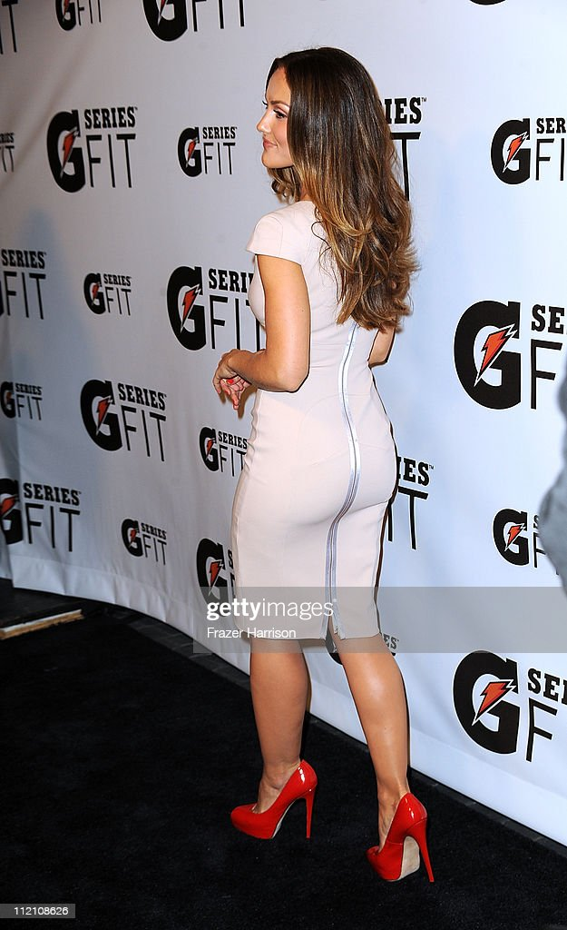 Actress Minka Kelly arrives at Gatorade's 'G Series Fit' Launch Party at the SLS Hotel on April 12 2011 in Los Angeles California