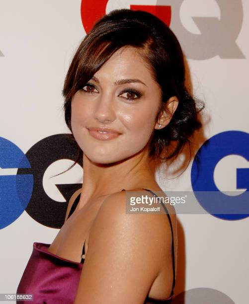 Actress Minka Kelly arrives at GQ Celebrates 2007 'Men Of The Year' at the Chateau Marmont Hotel on December 5 2007 in Hollywood California
