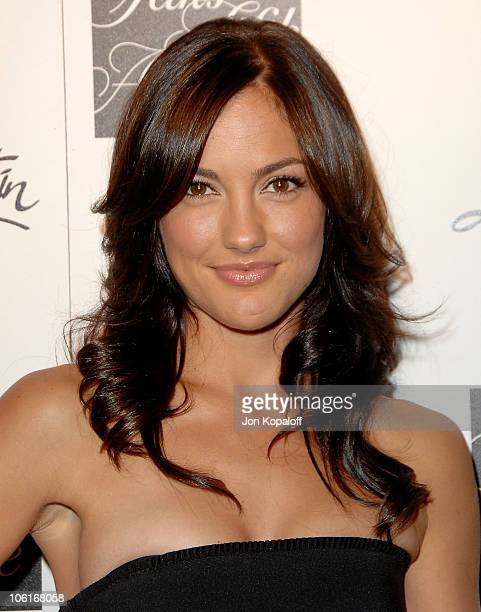 Actress Minka Kelly arrives at 'Saks Fifth Avenue Welcomes Christian Louboutin' at S Bar on October 17 2007 in Hollywood California