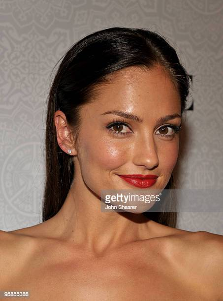 Actress Minka Kelly arrives at The Art of Elysium's 3rd Annual Black Tie Charity Gala 'Heaven' on January 16 2010 in Beverly Hills California