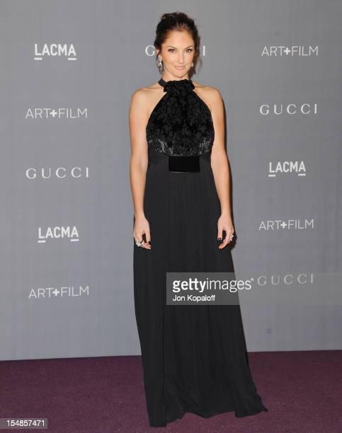Actress Minka Kelly arrives at the LACMA Art Gala at LACMA on October 27 2012 in Los Angeles California