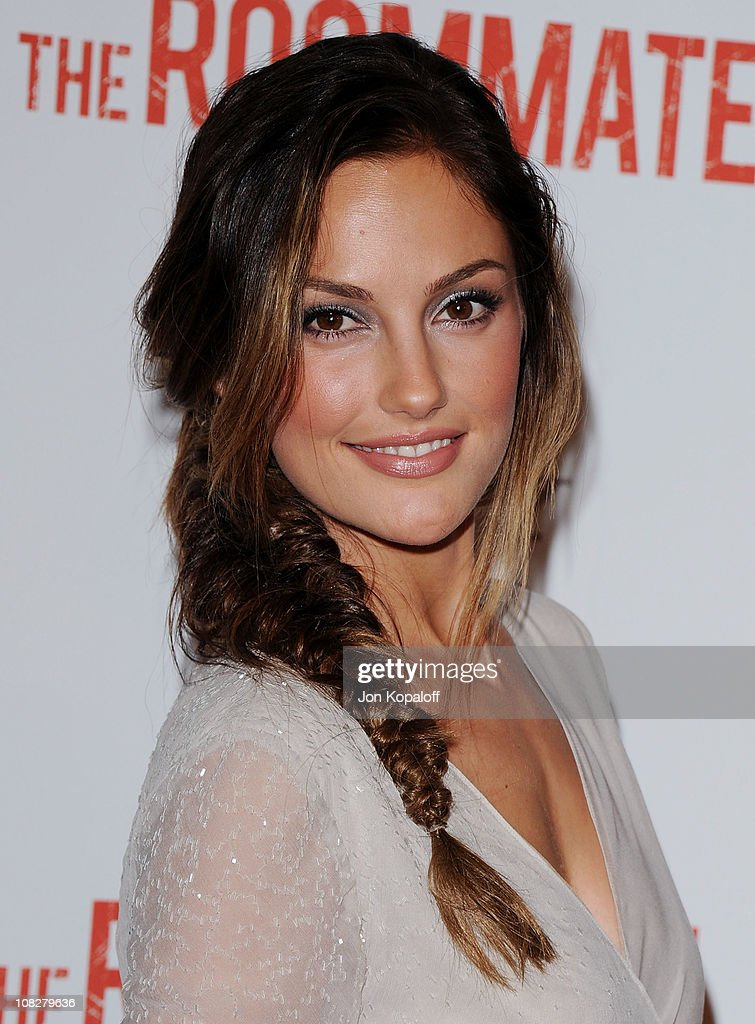 Actress Minka Kelly arrives at the Los Angeles Premiere 'The Roommate' at Soho House on January 23 2011 in West Hollywood California