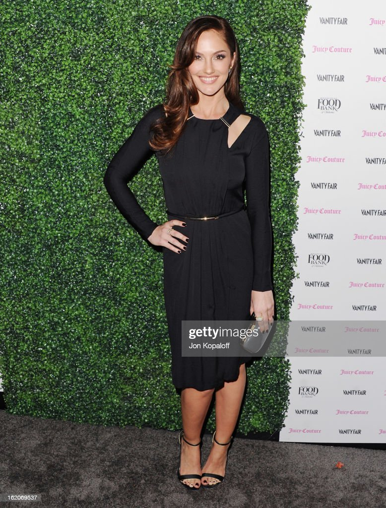 Actress <a gi-track='captionPersonalityLinkClicked' href=/galleries/search?phrase=Minka+Kelly&family=editorial&specificpeople=632847 ng-click='$event.stopPropagation()'>Minka Kelly</a> arrives at the Vanity Fair And Juicy Couture Celebration Of The 2013 Vanities Calendar at Chateau Marmont on February 18, 2013 in Los Angeles, California.