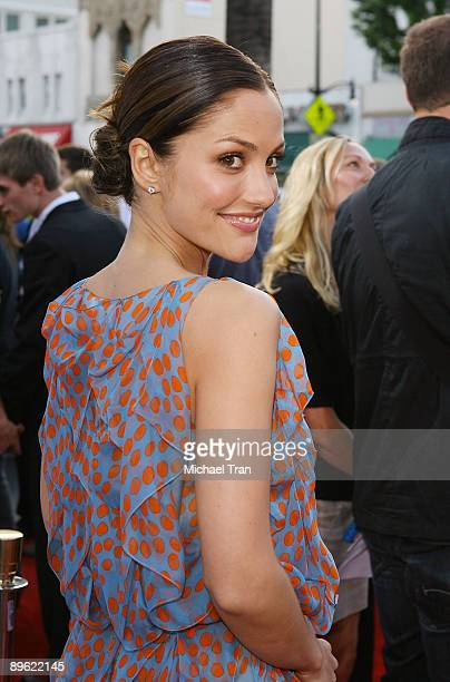 Actress Minka Kelly arrives to the Los Angeles premiere of ' Days of Summer' held at the Egyptian Theatre on June 24 2009 in Hollywood California