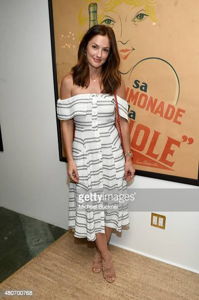 Actress Minka Kelly attends a celebration with STRIIIKE and Caudalie for 'The French Beauty Solution' on Bastille Day at STRIIIKE on July 14 2015 in...