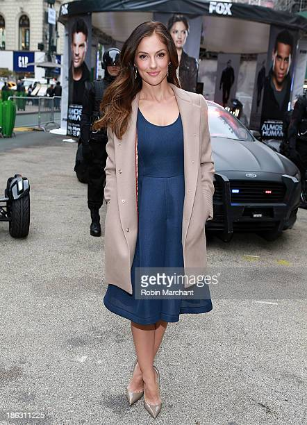 Actress Minka Kelly attends FOX's 'Almost Humanhattan' experience at Herald Square on October 30 2013 in New York City