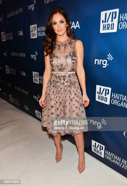 Actress Minka Kelly attends the 2nd Annual Sean Penn and Friends Help Haiti Home Gala benefiting J/P HRO presented by Giorgio Armani at Montage Hotel...